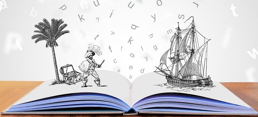 BOOK OPENS UP IMAGINATION