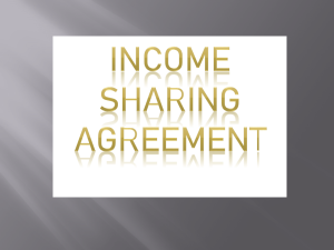 INCOME SHARING AGREEMENT